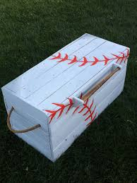 Make Your Own Toy Box Pattern by Custom Baseball Toy Box Is A Perfect Addition To Any Nursery