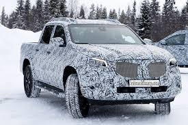 2018 mercedes benz x class pickups spied in the snow automobile