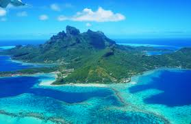 Map Of Bora Bora Flying In French Polynesia Is Spectacular