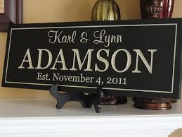wedding gift name sign 18 best family name sign images on family names