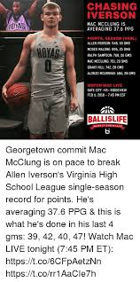 Allen Iverson Meme - chasing iverson dyas mac mcclung is averaging 376 ppg points season