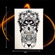 the eye of horus god temporary black ink color
