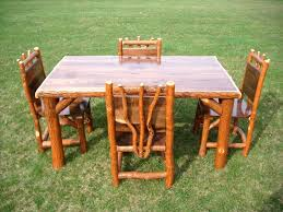 log dining table the table is beautifully crafted of northern