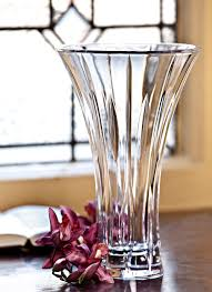 Vintage Waterford Crystal Signed 8 Inch Flower Vase In Waterford Crystal Marquis Collection Blarney