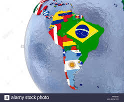 Latin Country Flags Map Latin America Flags Countries Stock Photos U0026 Map Latin America