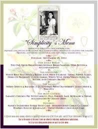 wine dinner menu template