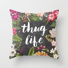 thug throw pillow by textboy society6