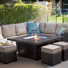 alderbrook faux wood fire table wood fire pit table luxury propane fire pit table set gas chat