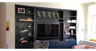 custom media cabinets media bookcase tv built ins in nyc