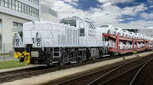 audi factory audi reveals their new alstom hybrid locomotive for ingolstadt factory