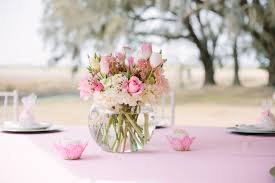 baby shower arrangements for table photo ballerina baby shower party image picturesque table