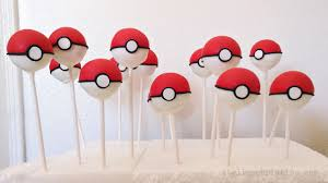 themed cake pops le shoppe pokeball cake pops cookies for a birthday
