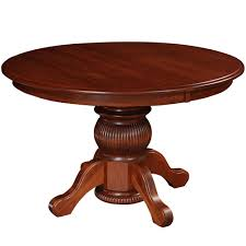 amish mission style dining tables virginia house single pedestal