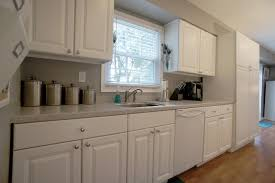 Kitchen Cabinet Surfaces White Kitchen Cabinets With White Appliances Tips And Photo