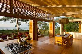 wood interior homes wooden house with shape and open plan interior
