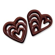 heart chocolate milk chocolate hearts the cake decorating store