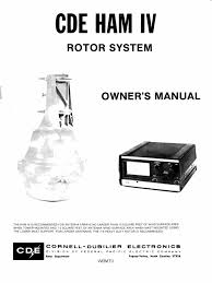 cde ham iv rotor system owner u0027s manual cornell dubilier