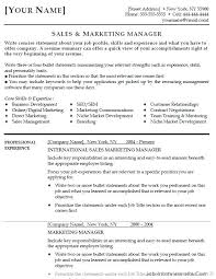 resume samples for sales and marketing marketing samples sample