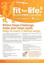 Challenge Steps Fit For Billion Steps Program Let S Go Australia