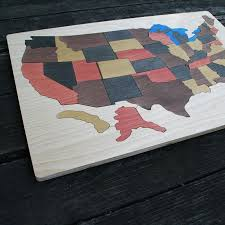 us map puzzle wood usa wooden map puzzle the puzzle