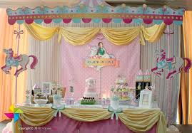 Birthday Candy Buffet Ideas by A Carousel Themed Birthday Party Design And Setup Of Backdrop