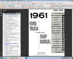 fordmanuals com 1961 63 ford truck shop manual 100 800 ebook