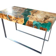 resin and wood coffee table welded steel legs resin tables