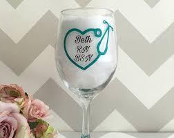 graduation wine glasses doctor wine glass etsy