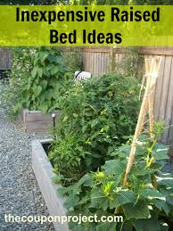 Backyard Cheap Ideas Frugal Gardening Four Inexpensive Raised Bed Ideas
