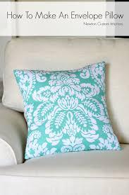 How To Make Sofa Pillow Covers How To Make An Envelope Pillow Newton Custom Interiors