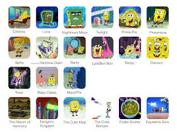 spongebob as my little pony friendship is magic characters