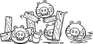 bad piggies coloring page wecoloringpage