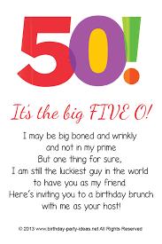 birthday invitations for 50th birthday party vertabox com