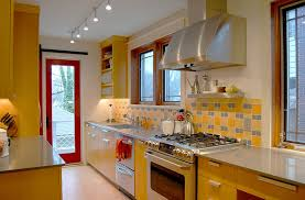 Blue Yellow Kitchen - kitchen backsplash ideas a splattering of the most popular colors