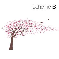 cherry blossom tree decal style scheme b