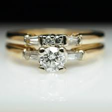 yellow gold bridal sets yellow gold vintage diamond bridal set engagement ring wedding