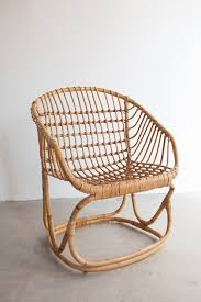 vintage rattan bucket chair sold out u2013 marikoko