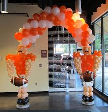 balloon delivery jacksonville fl football player arch created by bouquets balloons portland