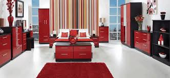 Black And White Ceramic Floor Tile Furry Red Rug Sleek Shiny Red And Black Wardrobe Stylish Red Vase
