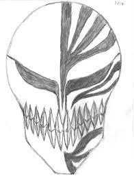 ichigo u0027s hollow mask by theenvisionartist on deviantart