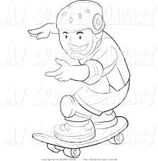 boy coloring clipart 43