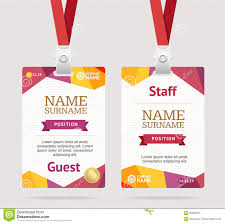 id card template plastic badge vector stock vector image 90296873