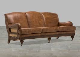 Horsehair Sofa Brown Whisky Leather Sofa With Low Rolled Arm