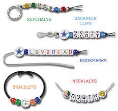 beaded bracelet name images Name beads alphabet letter beads alpha beads logo imprint jpg