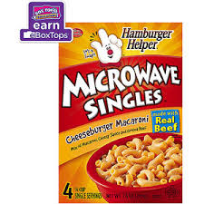 betty crocker microwave singles cheeseburger macaroni hamburger