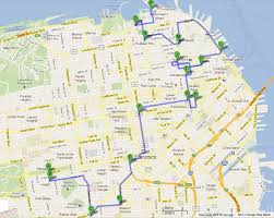 san francisco map for tourist san francisco l california