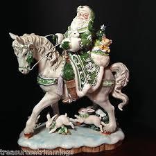 collectible fitz floyd winter garden santa on figurine