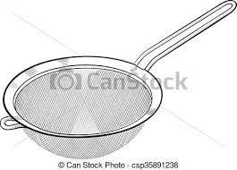 passoire de cuisine ustensile passoire crible cuisine utensil isolé vecteurs