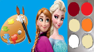 frozen color paint how to draw colour frozen elsa step by step