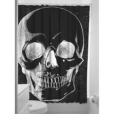 Sugar Skull Bathroom Sourpuss Skull Shower Curtain Rockabilly Homewares Tattoo